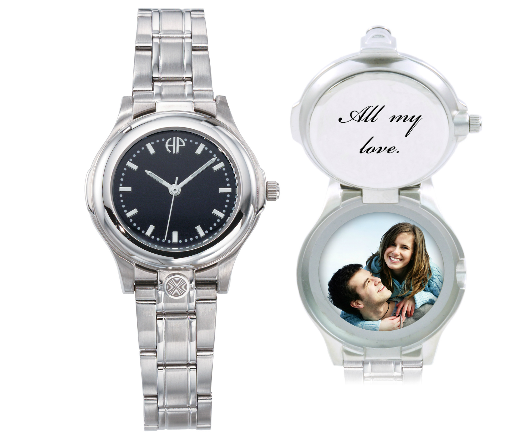 Image of Maxim Black personalized picture portrait watch