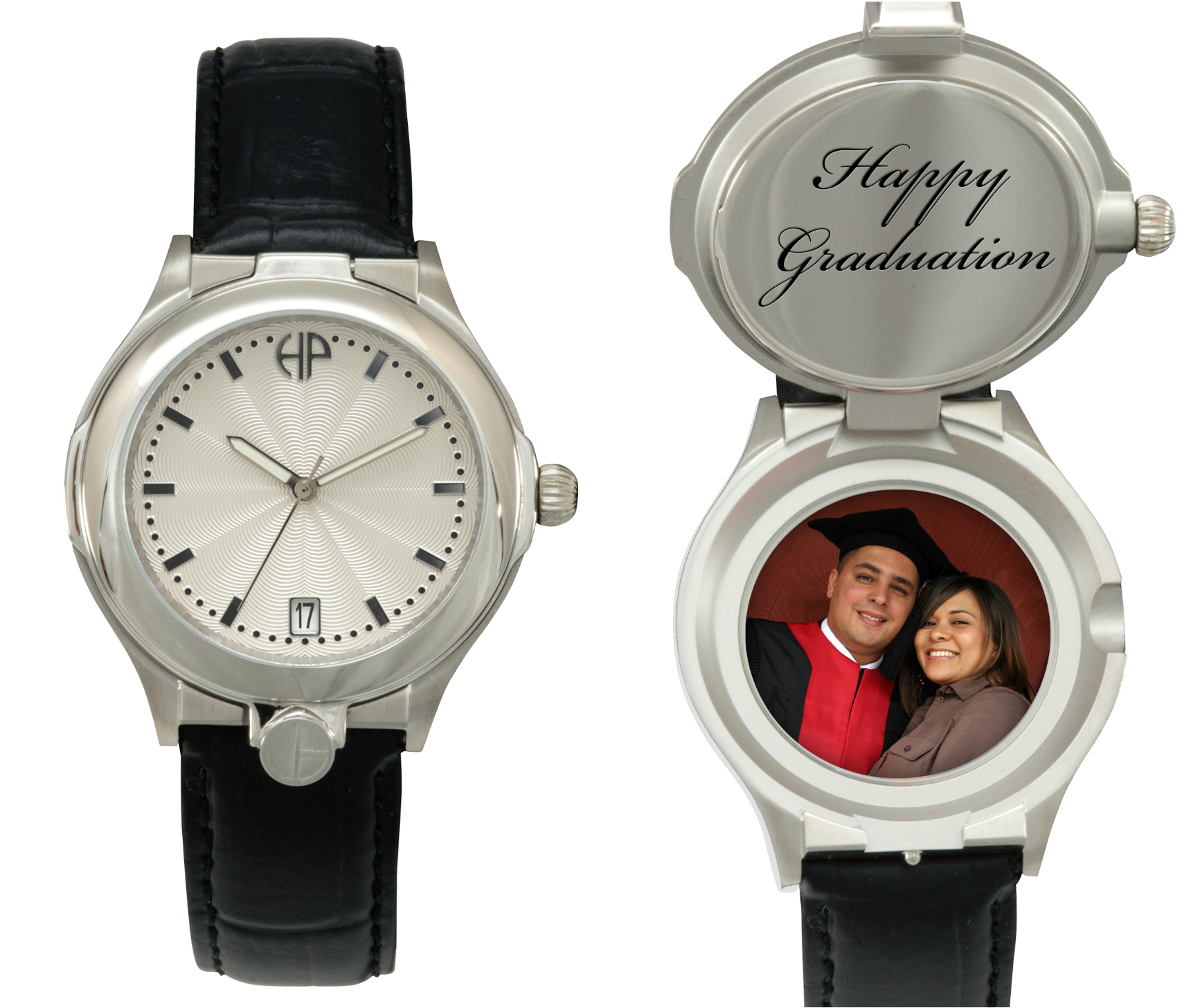 Image of Men's Sophisticate personalized picture portrait watch