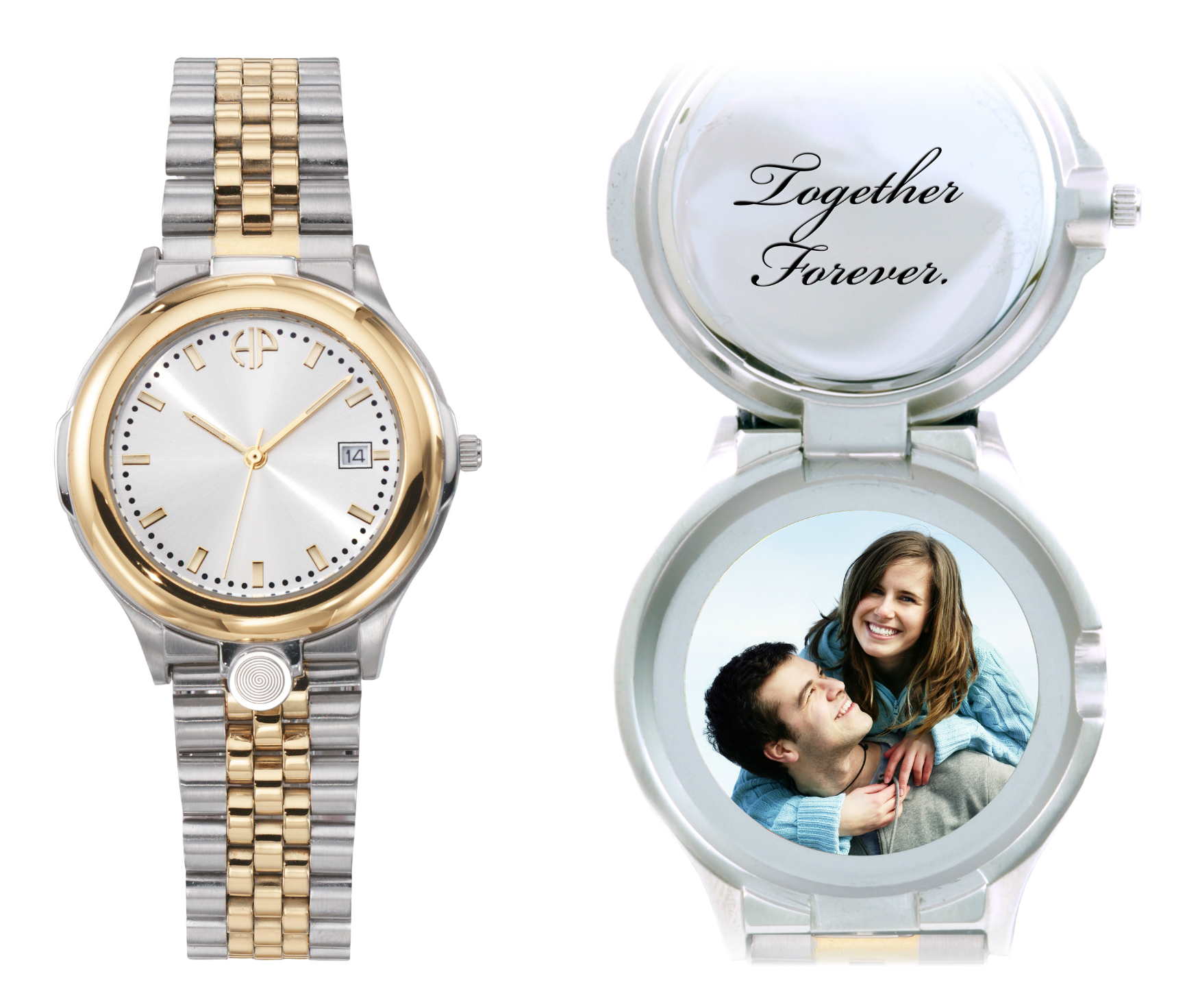 Image of Men's Classic personalized picture portrait watch