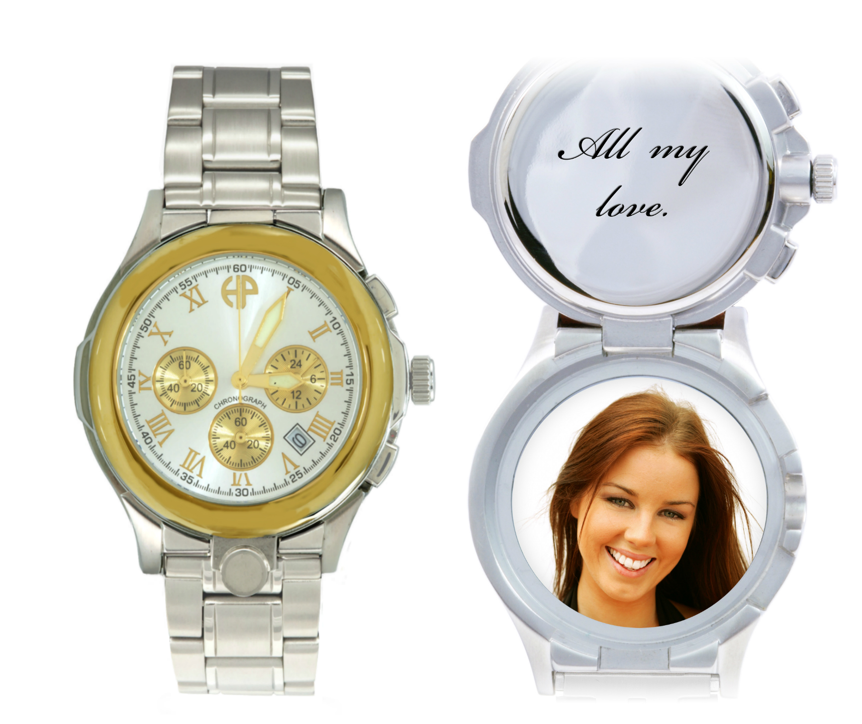 Image of Men's President personalized picture portrait watch
