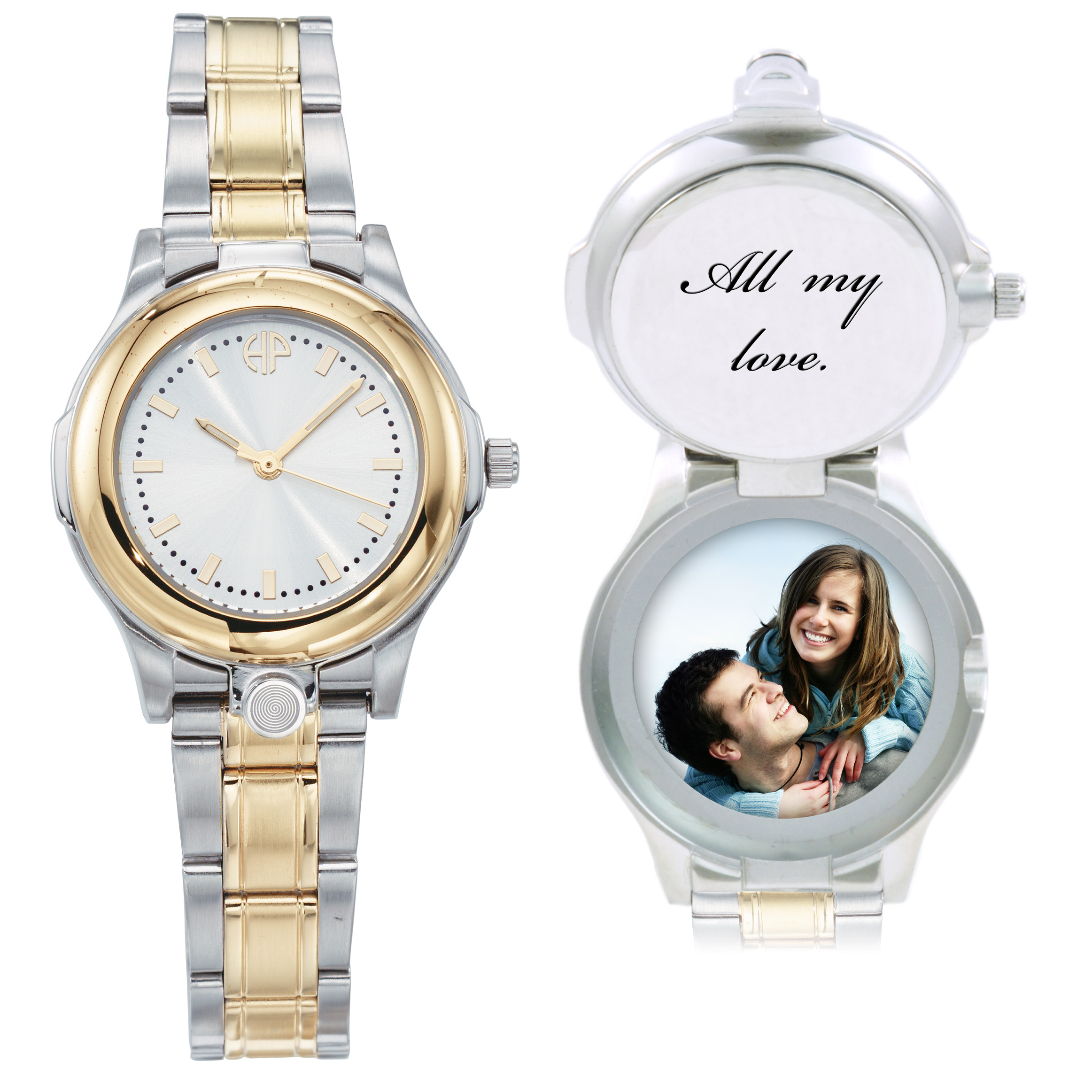 Image of Ladies Traditionalist personalized picture portrait watch