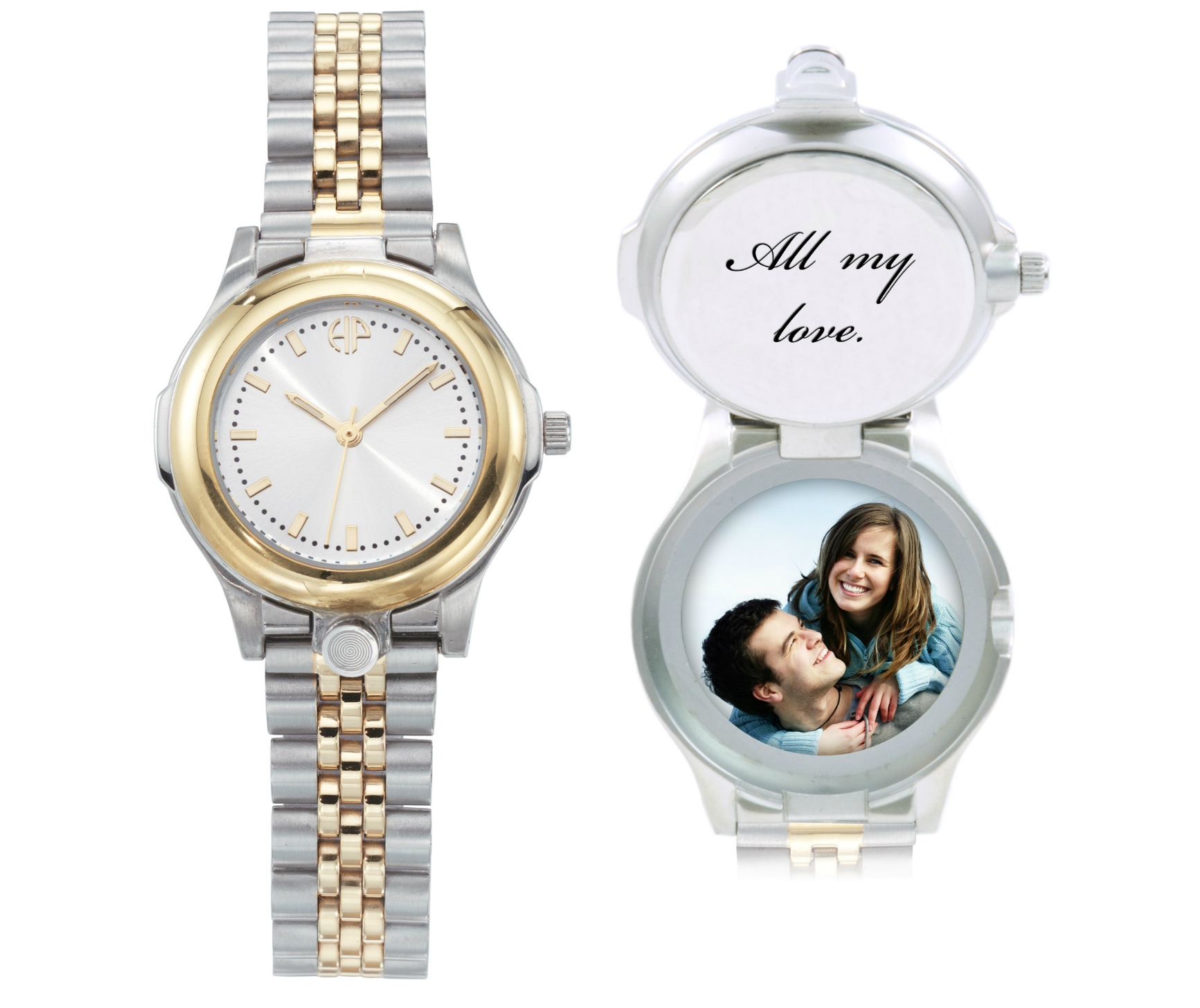 Image of Ladies Classic personalized picture portrait watch